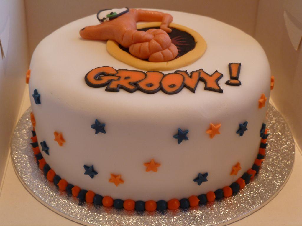 Earthworm Birthday Cake
