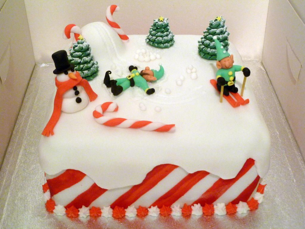 Christmas Fruit Cake Decorating Ideas : Christmas Cake: The Sad Invention of Snow Angels by ...