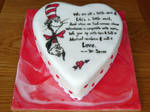 Cat in the Hat Valentine's Cake