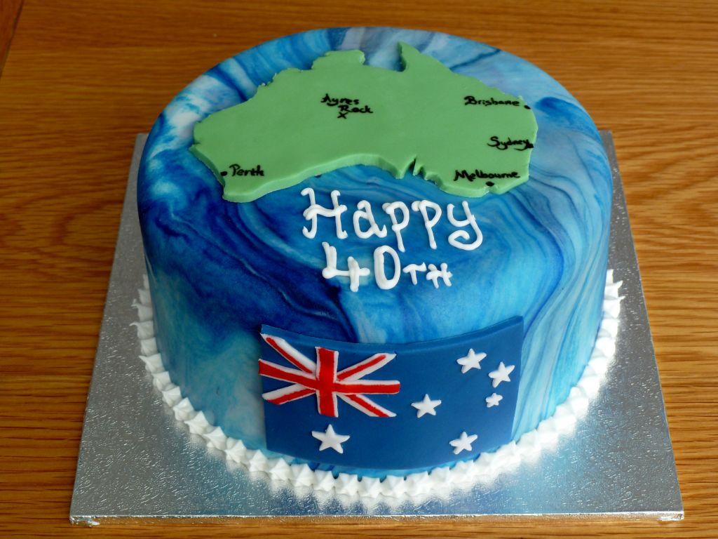Australia Map 40th Birthday Cake By Rebeckington On Deviantart