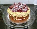 Spaghetti and Meatballs Cake