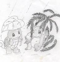 Squirtle Charmander by princesspurpleblob