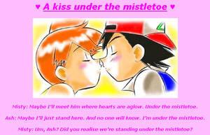 A kiss under the mistletoe by princesspurpleblob
