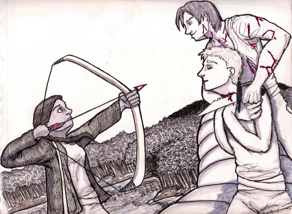 Katniss vs. Cato by Broken-Endings on DeviantArt