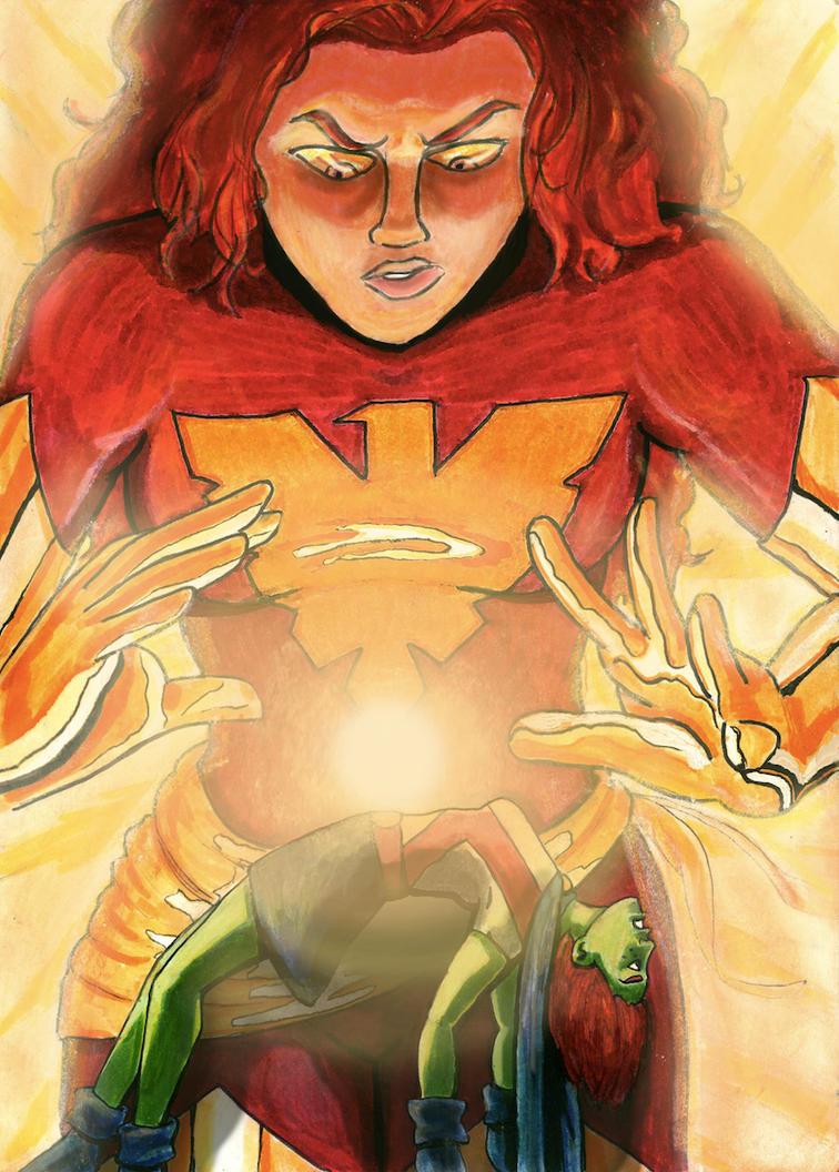Phoenix VS Miss Martian by Broken-Endings