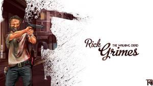 Rick Grimes Vector Wallpaper