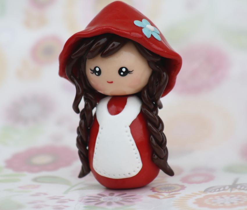 Little red riding hood chibi kokeshi by chikipita