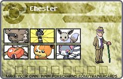 Chester's Pokemon Card 1 by DreamNotePrincess