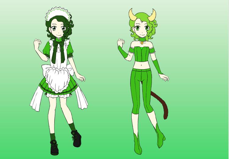 TMM OC: Kyuri Akimoto/Mew Cucumber by DreamNotePrincess