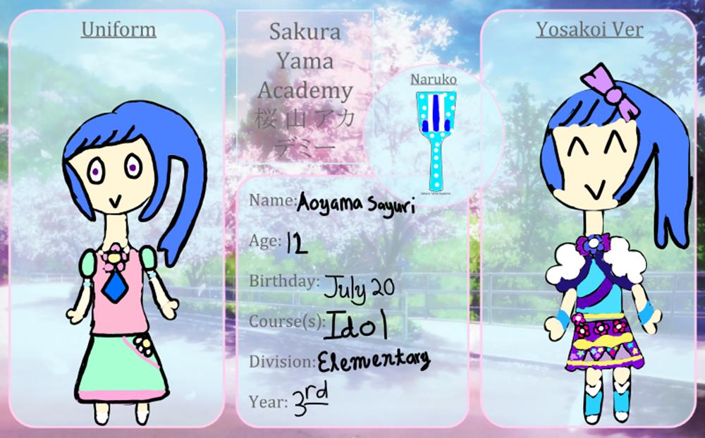 Sakura-Yama-Academy: Aoyama Sayuri by DreamNotePrincess