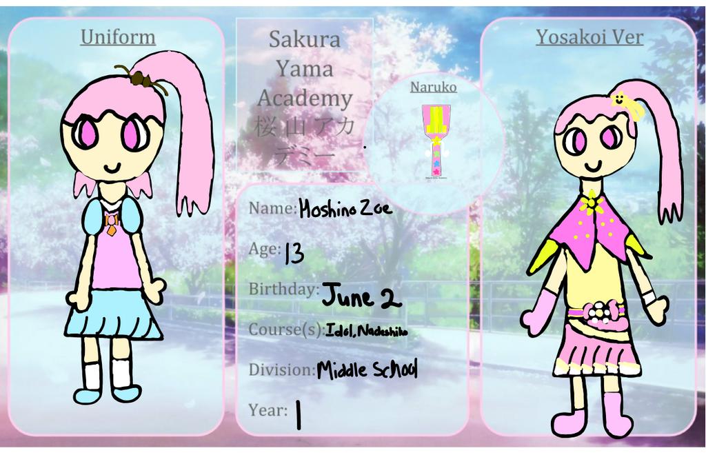 SYA: Hoshino Zoe by DreamNotePrincess
