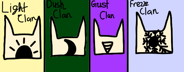 My Fanmade Clans by DreamNotePrincess