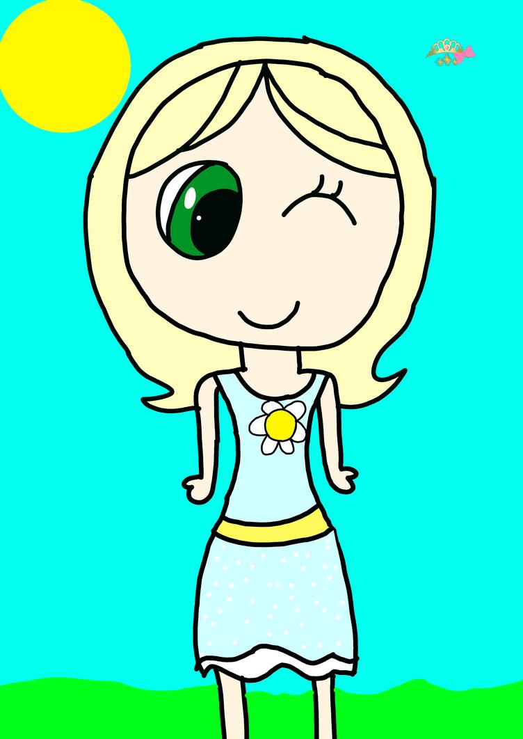 PDA: Chika in her Summer Dress by DreamNotePrincess