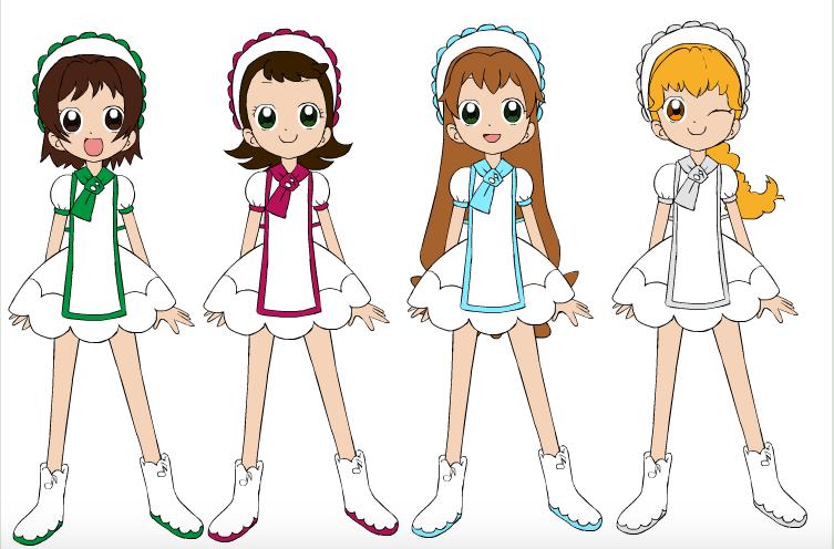 Ojamajo Doremi TMS Girls by DreamNotePrincess