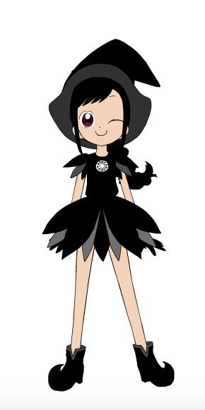 Kuroi as a Ojamajo by DreamNotePrincess