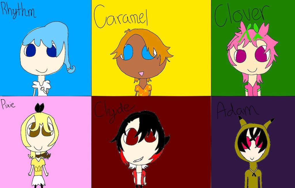 My Pokemon Moon Team (Gijinka) by DreamNotePrincess