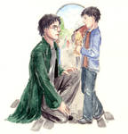 Deathly Hallows - Epilogue Art by DrawnSeawards