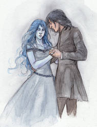 Snape and Meira by DrawnSeawards