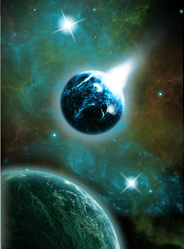 Space scene by hamesha