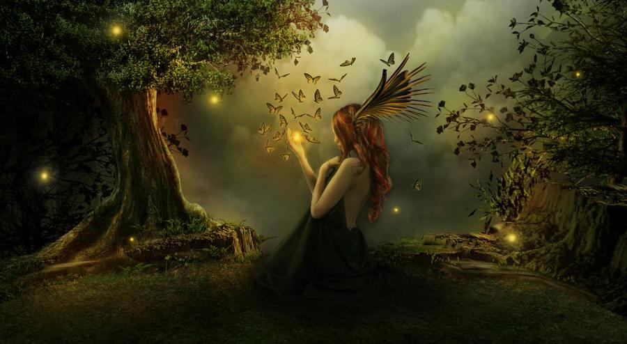 Forest fairy by hamesha on DeviantArt