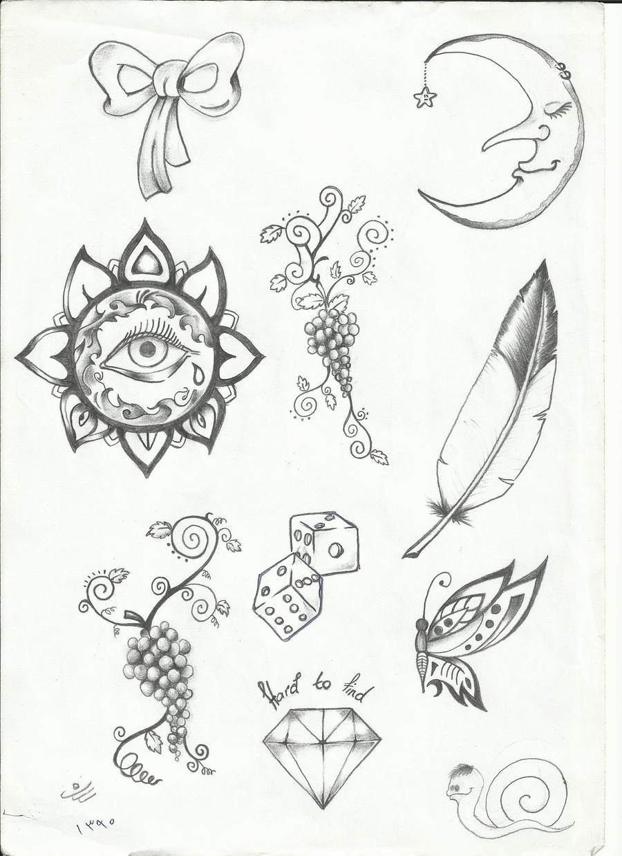 Tattoo flash by sasan ghods on deviantart for Small tattoo flash