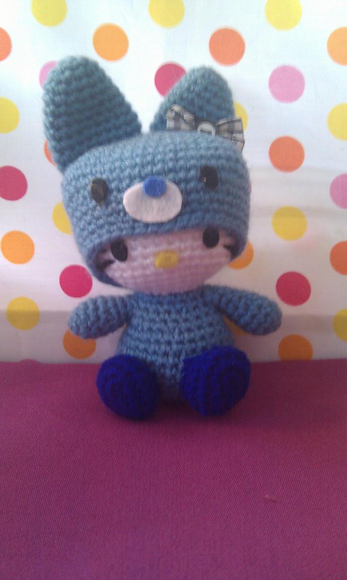 Hello Kitty Hada Amigurumi : Hello kitty amigurumi blue by phampyk on DeviantArt