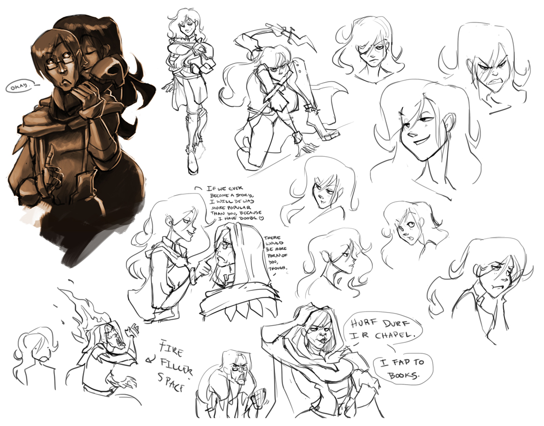 Saulia Character Concepts by Palidoozy