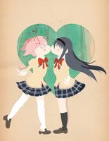Papercraft Lovers (Madoka x Homura)