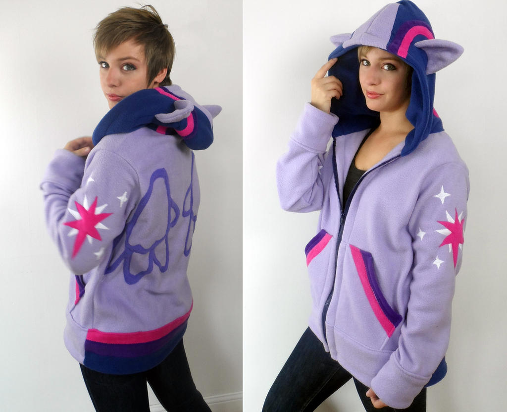 Twilight Sparkle hoodie! by Lisa-Lou-Who
