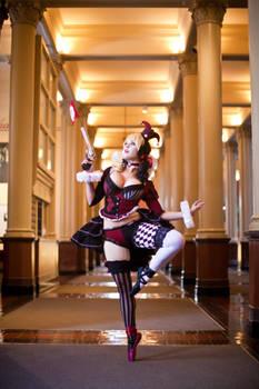 Victorian Harley Quinn en pointe