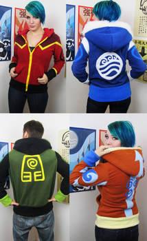 Elemental handmade hoodies