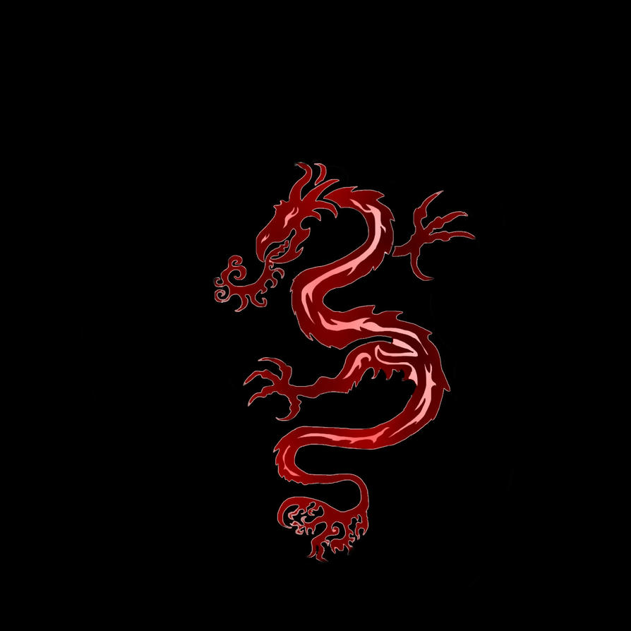 Black And Red Dragon Background Tribal dragon tattoo - red