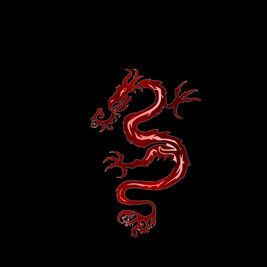 tribal dragon tattoo red by meurgin on deviantart