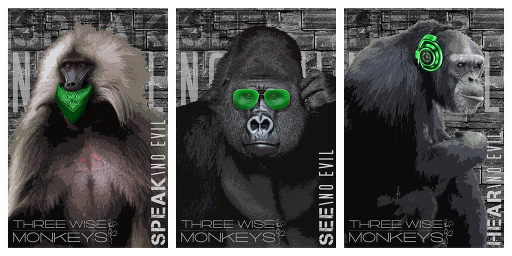 c7b6f0fad Three Wise Monkeys by TanoStudio on DeviantArt