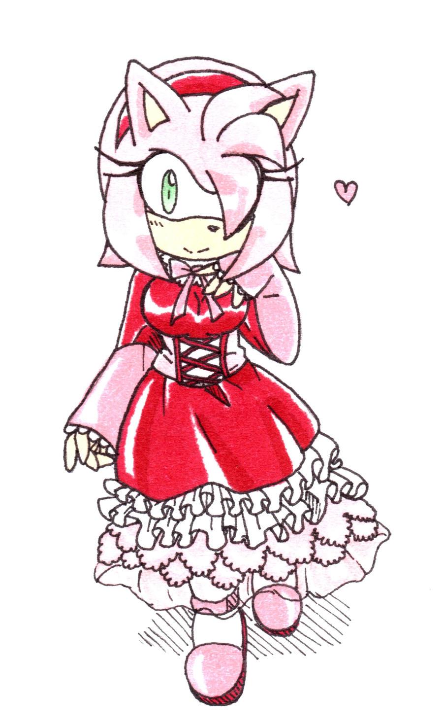 Amy Rose Sweet Lolita By Amortem Kun