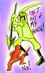 GET OUT OF MY HOUSE! by surrealdeamer