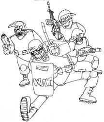 W.A.T. Team GO! by surrealdeamer
