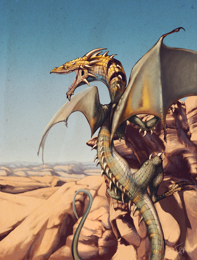 Desert Dragon By F0xyme On Deviantart