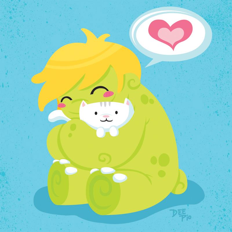 Gronk Hug by nerdeeart