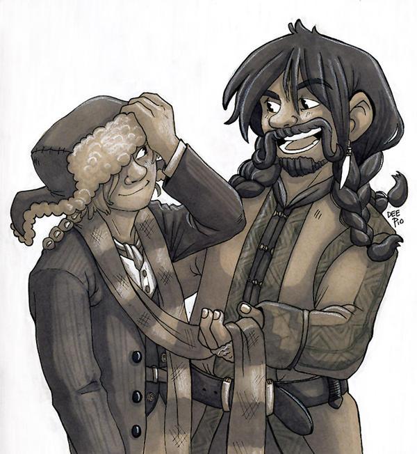 Bilbo and Bofur by nerdeeart