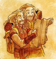 Fili and Frerin by nerdeeart