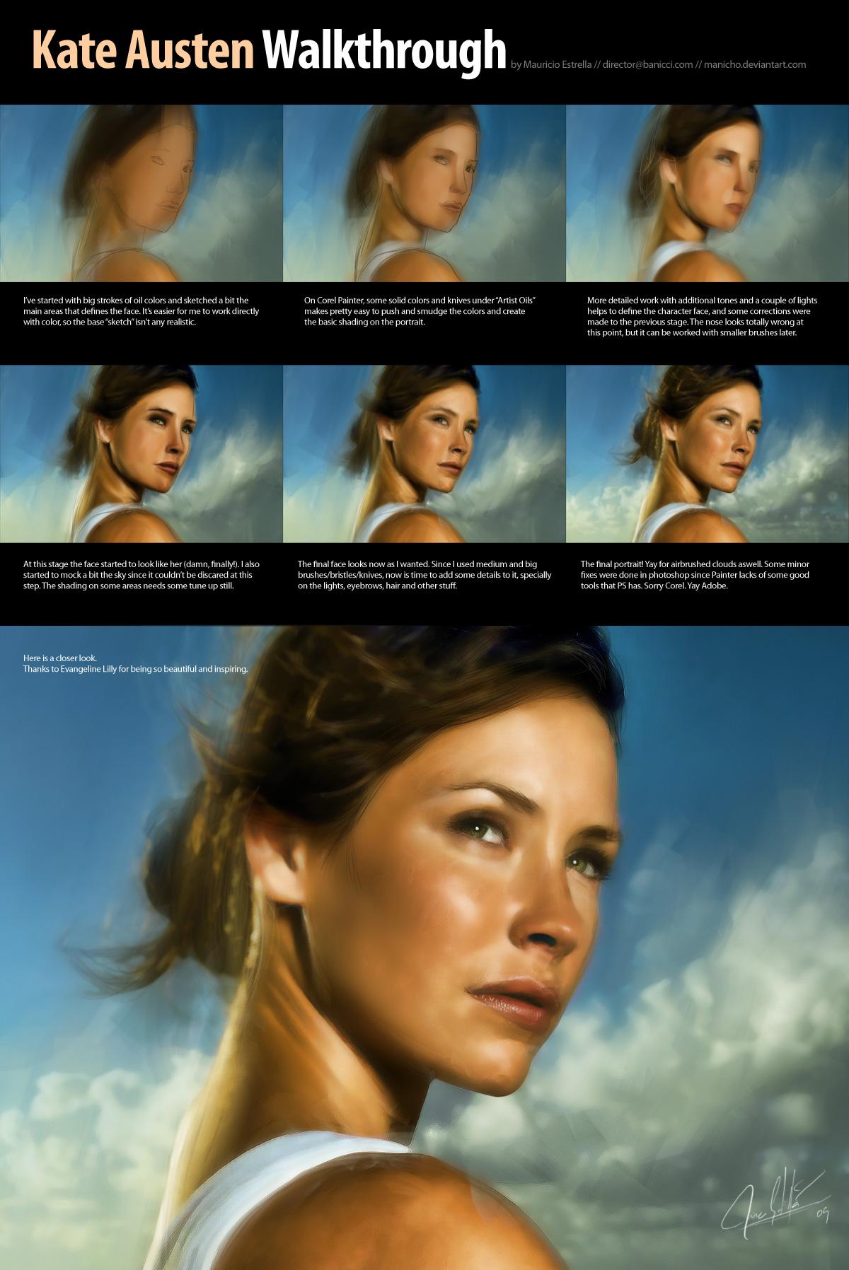 Kate Austen Portrait by mauricioestrella