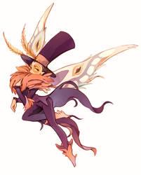 fluffy moth warden by masssssan