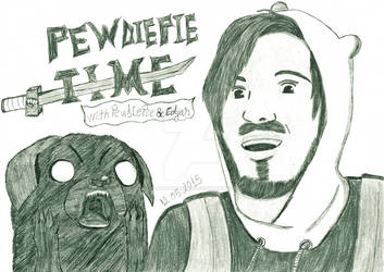 PewDiePie Time black and white version