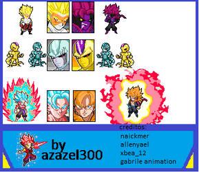 Nuevos Sprites De Dragon Ball Heroes. by azazel300