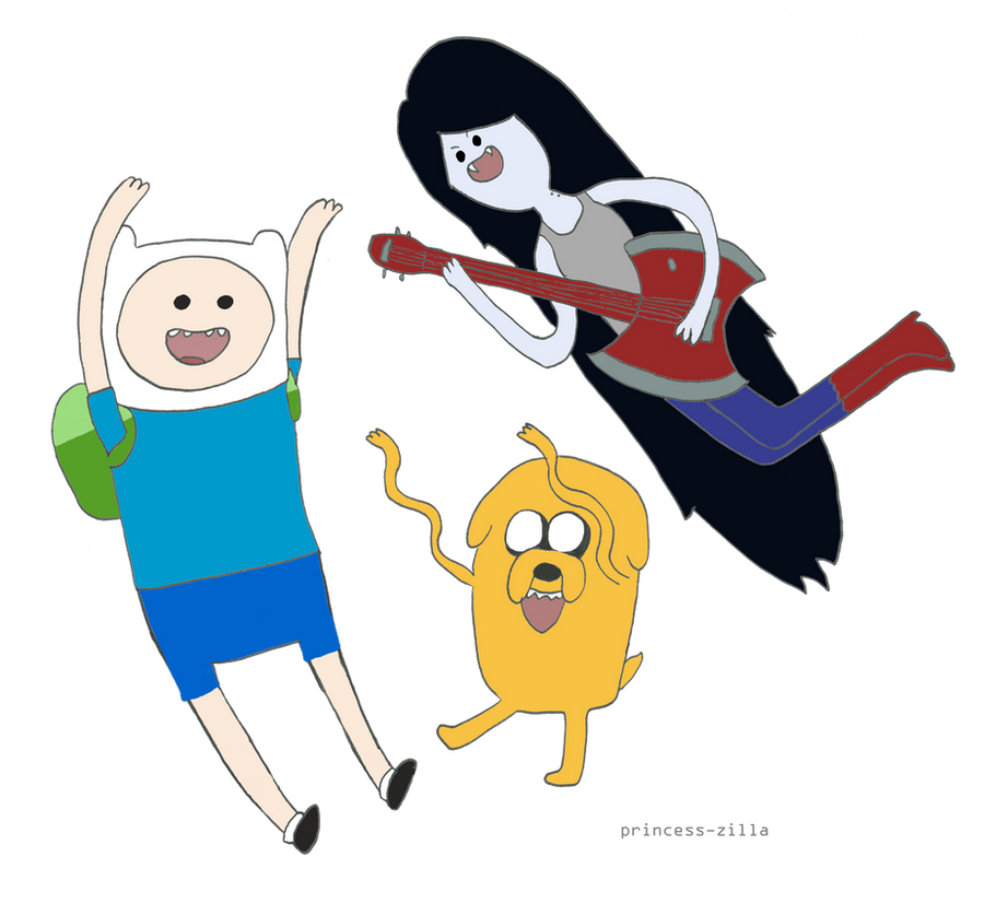 Adventure Time with Finn, Marceline and Jake by ...