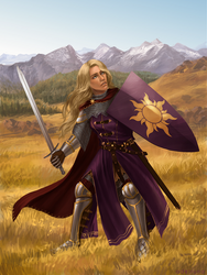 Rapunzel knight by adelruna