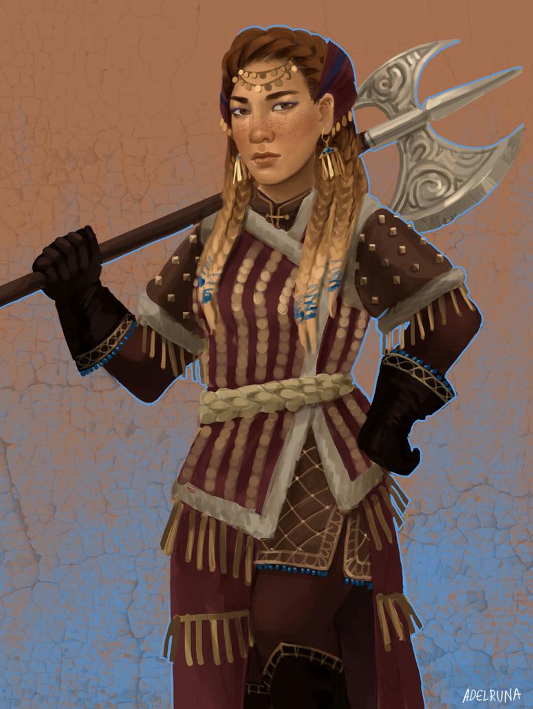 dwarf warrior by adelruna