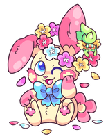Plusle and Comfey's Easter! - Charity Guild 2019 by RayStarKitty