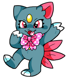 Ribbon Sneasel (Commission!) by RayStarKitty